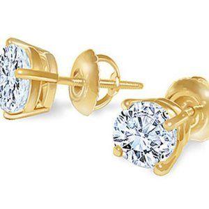 1.80 Carat E Vvs1 Diamond Studs Earrings